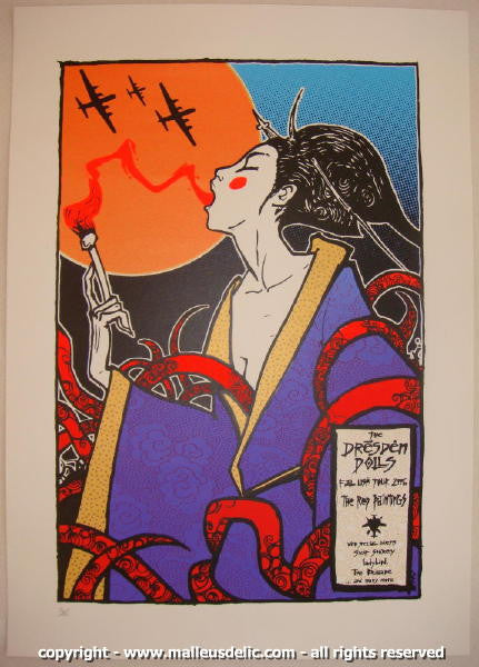 2006 Dresden Dolls USA Tour Silkscreen Concert Poster by Malleus
