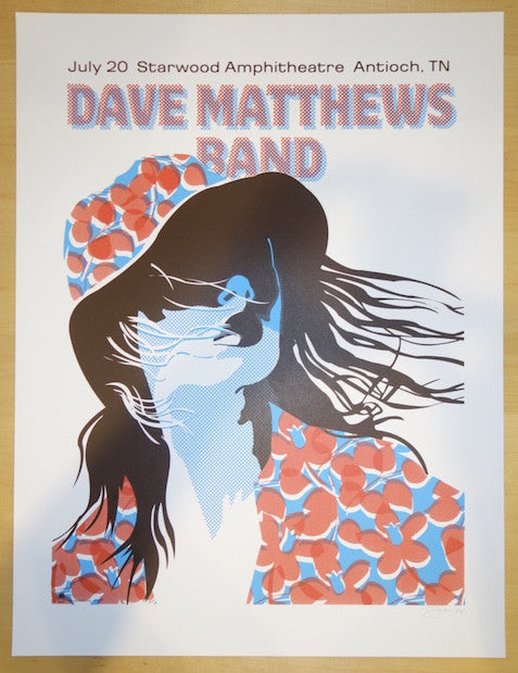 2005 Dave Matthews Band - Antioch Silkscreen Concert Poster by Methane