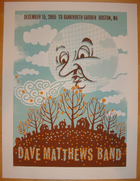 2005 Dave Matthews Band - Boston Silkscreen Concert Poster by Methane