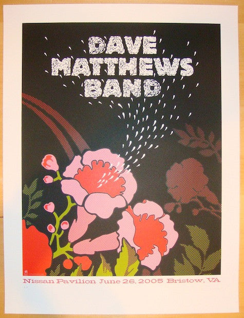 2005 Dave Matthews Band - Bristow Concert Poster by Methane
