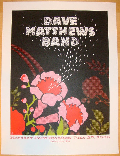 2005 Dave Matthews Band - Hershey Concert Poster by Methane