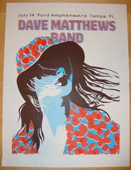 2005 Dave Matthews Band - Tampa Concert Poster by Methane