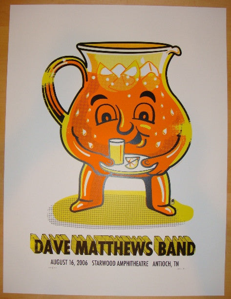 2006 Dave Matthews Band - Antioch Concert Poster by Methane