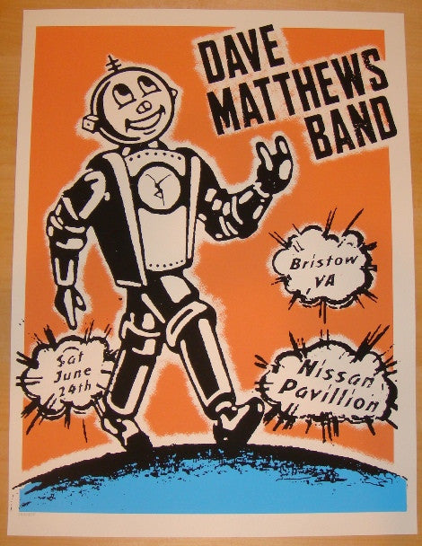 2006 Dave Matthews Band - Bristow Concert Poster by Decoder Ring