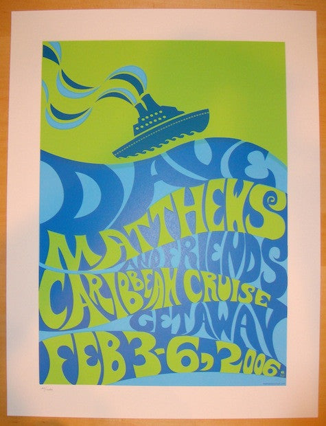 2006 Dave Matthews & Friends Caribbean Concert Poster by Methane