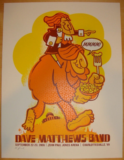 2006 Dave Matthews Band - Charlottesville Poster by Methane