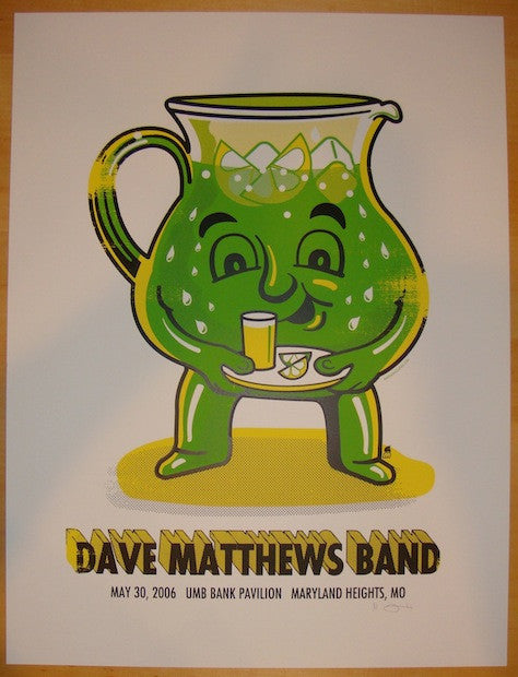 2006 Dave Matthews Band - Maryland Heights Poster by Methane