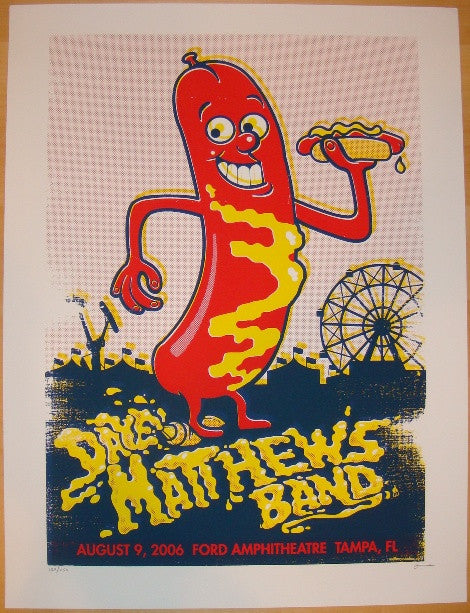 2006 Dave Matthews Band - Tampa Concert Poster by Methane