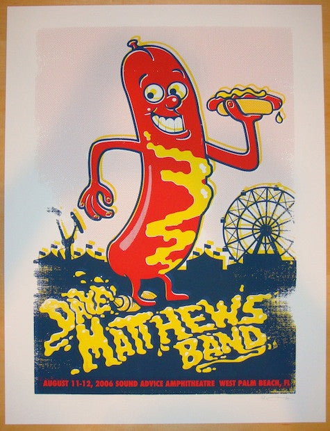 2006 Dave Matthews Band - West Palm Concert Poster by Methane