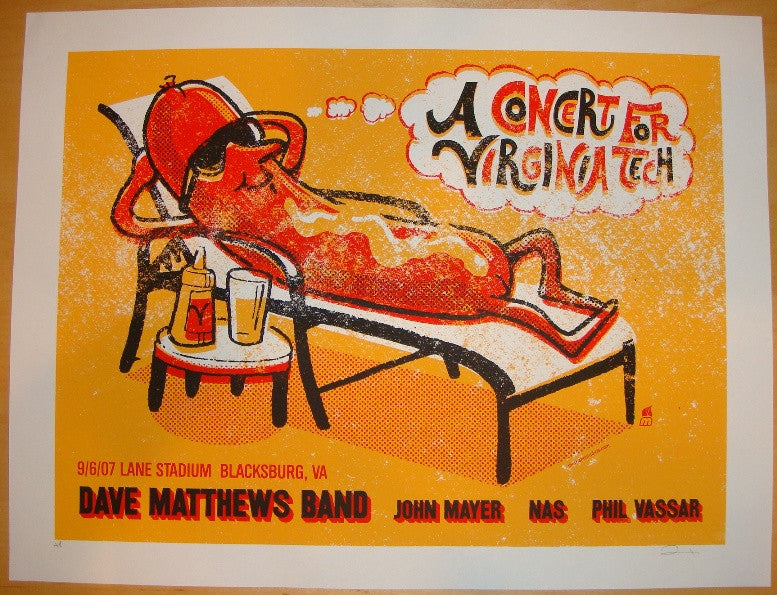 2007 Dave Matthews Band - Blacksburg Concert Poster by Methane