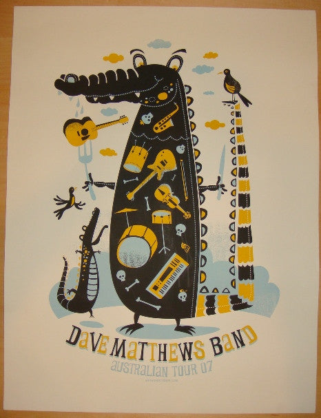 2007 Dave Matthews Band - Australia Concert Poster by Methane
