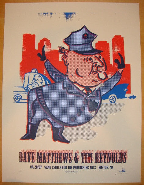 2007 Dave Matthews & Tim Reynolds - Boston Poster by Methane
