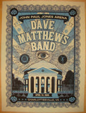 2009 Dave Matthews Band - Charlottesville II Poster by Methane