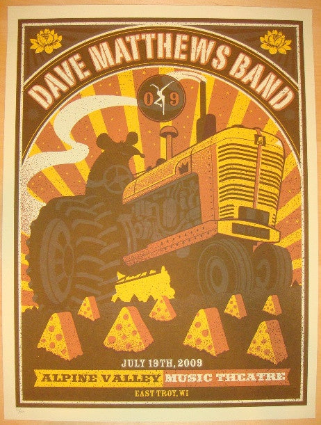 2009 Dave Matthews Band - Alpine II Concert Poster by Methane