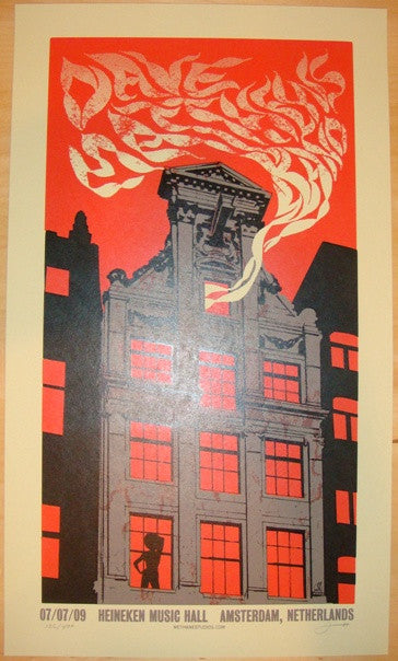 2009 Dave Matthews Band - Amsterdam Concert Poster by Methane