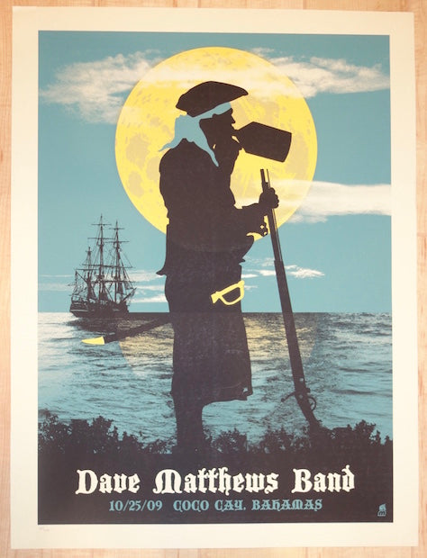 2009 Dave Matthews Band - Bahamas Concert Poster by Methane