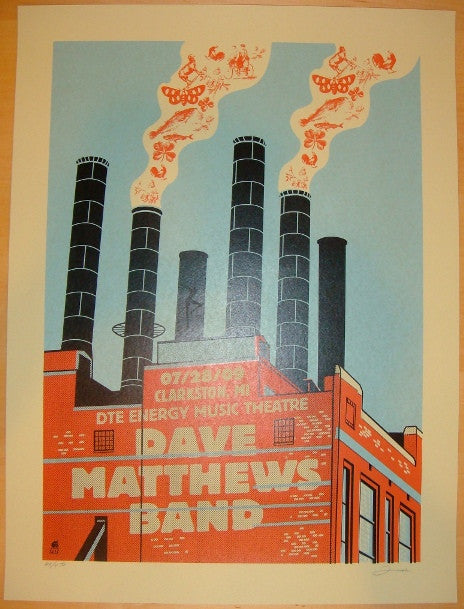 2009 Dave Matthews Band - Clarkston Concert Poster by Methane