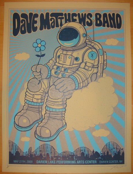 2009 Dave Matthews Band - Darien Lake Concert Poster by Methane