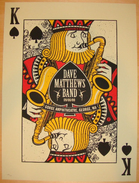 2009 Dave Matthews Band - Gorge III Concert Poster by Methane