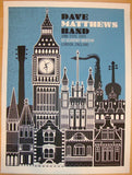 2009 Dave Matthews Band - London I Concert Poster by Methane