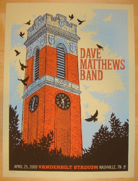 2009 Dave Matthews Band - Nashville Concert Poster by Methane