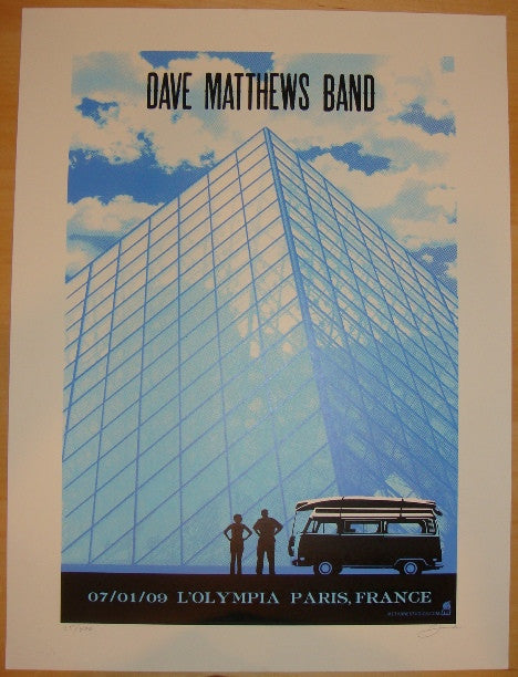 2009 Dave Matthews Band - Paris Concert Poster by Methane