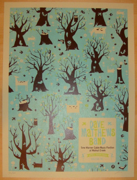 2009 Dave Matthews Band - Raleigh Concert Poster by Methane
