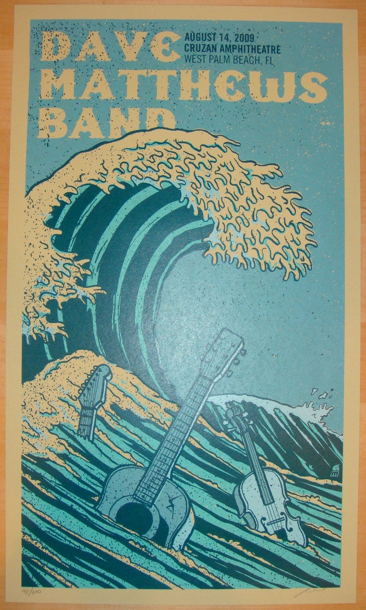 2009 Dave Matthews Band - West Palm I Concert Poster by Methane