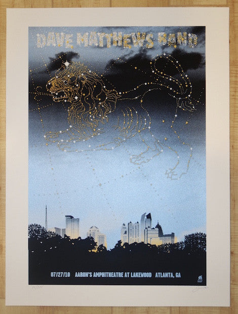 2010 Dave Matthews Band - Atlanta Silkscreen Concert Poster by Methane