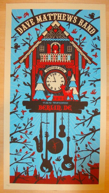 2010 Dave Matthews Band - Berlin Concert Poster by Methane
