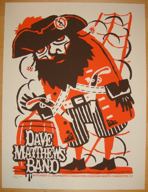 2010 Dave Matthews Band - Charleston Concert Poster by Furturtle