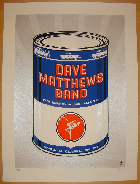 2010 Dave Matthews Band - Clarkston Concert Poster by Methane