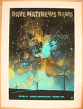 2010 Dave Matthews Band - Gorge II Concert Poster by Methane
