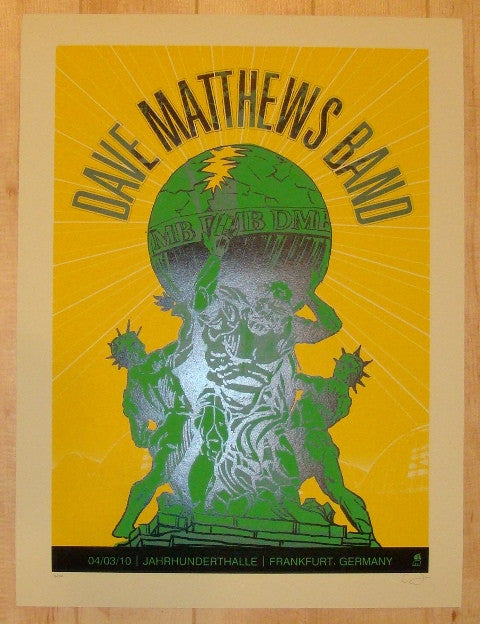 2010 Dave Matthews Band - Frankfurt Concert Poster by Methane