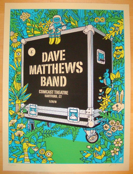 2010 Dave Matthews Band - Hartford I Concert Poster by Methane