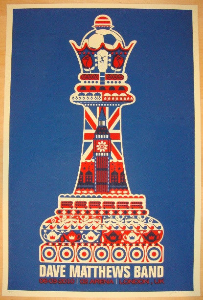 2010 Dave Matthews Band - London Concert Poster by Methane