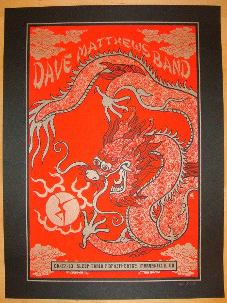 2010 Dave Matthews Band - Marysville Concert Poster by Methane