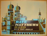 2010 Dave Matthews Band - Munich Concert Poster by Methane