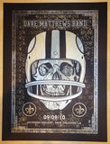 2010 Dave Matthews Band - New Orleans Silkscreen Concert Poster by Methane