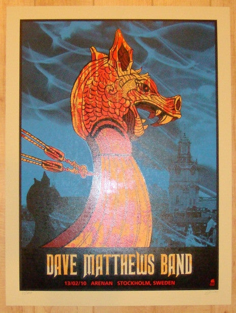 2010 Dave Matthews Band - Stockholm Concert Poster by Methane