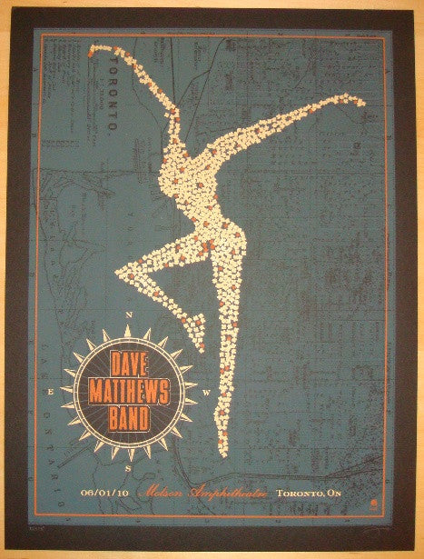 2010 Dave Matthews Band - Toronto Concert Poster by Methane