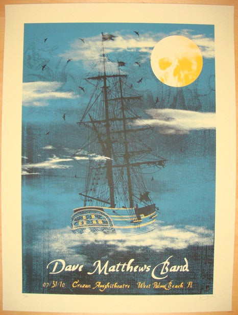 2010 Dave Matthews Band - West Palm II Concert Poster by Methane