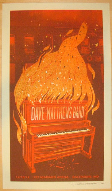 2012 Dave Matthews Band - Baltimore Concert Poster by Methane