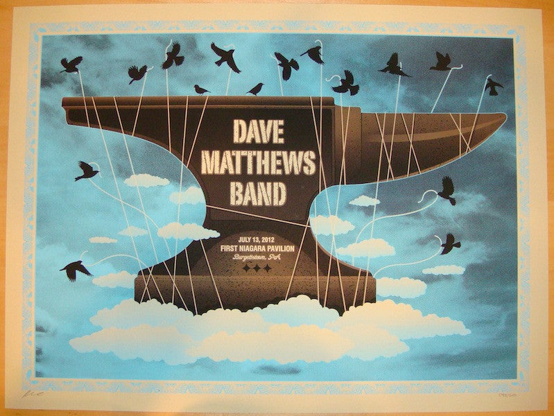 2012 Dave Matthews Band - Burgettstown I Poster by Methane