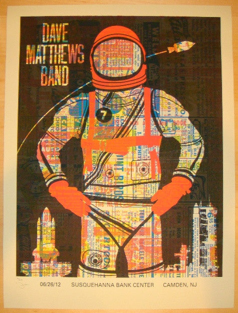 2012 Dave Matthews Band - Camden I Concert Poster by Methane