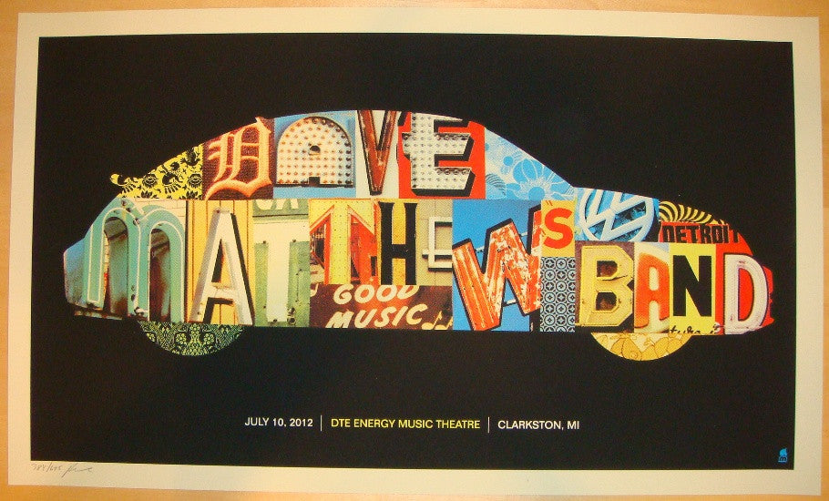 2012 Dave Matthews Band - Clarkston Concert Poster by Methane
