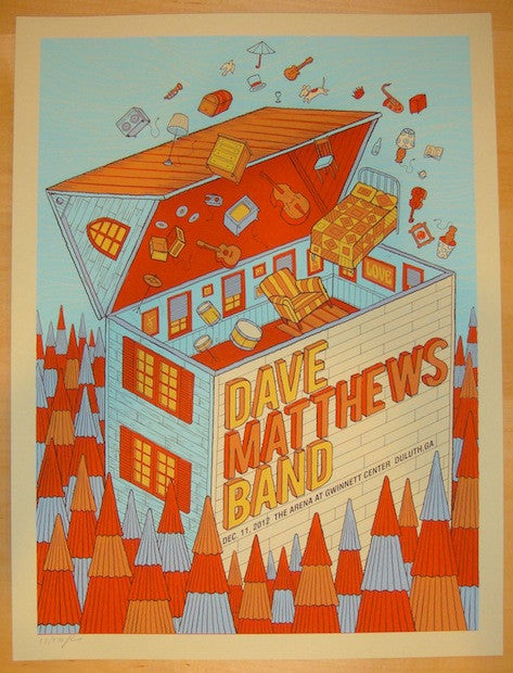 2012 Dave Matthews Band - Duluth Concert Poster by Methane