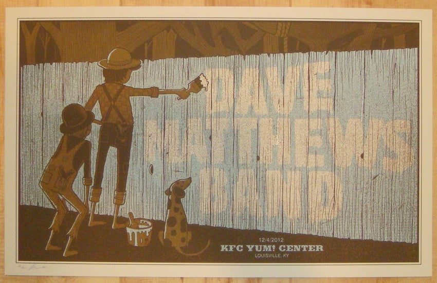 2012 Dave Matthews Band - Louisville Concert Poster by Methane