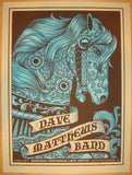 2012 Dave Matthews Band - SPAC I Concert Poster by Methane