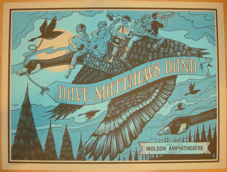 2012 Dave Matthews Band - Toronto I Concert Poster by Methane